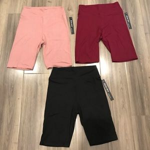 One Size Biker Shorts 3 Pack.